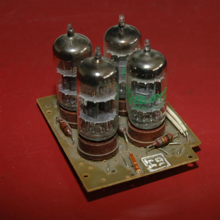 board with ECC83 electronic tubes