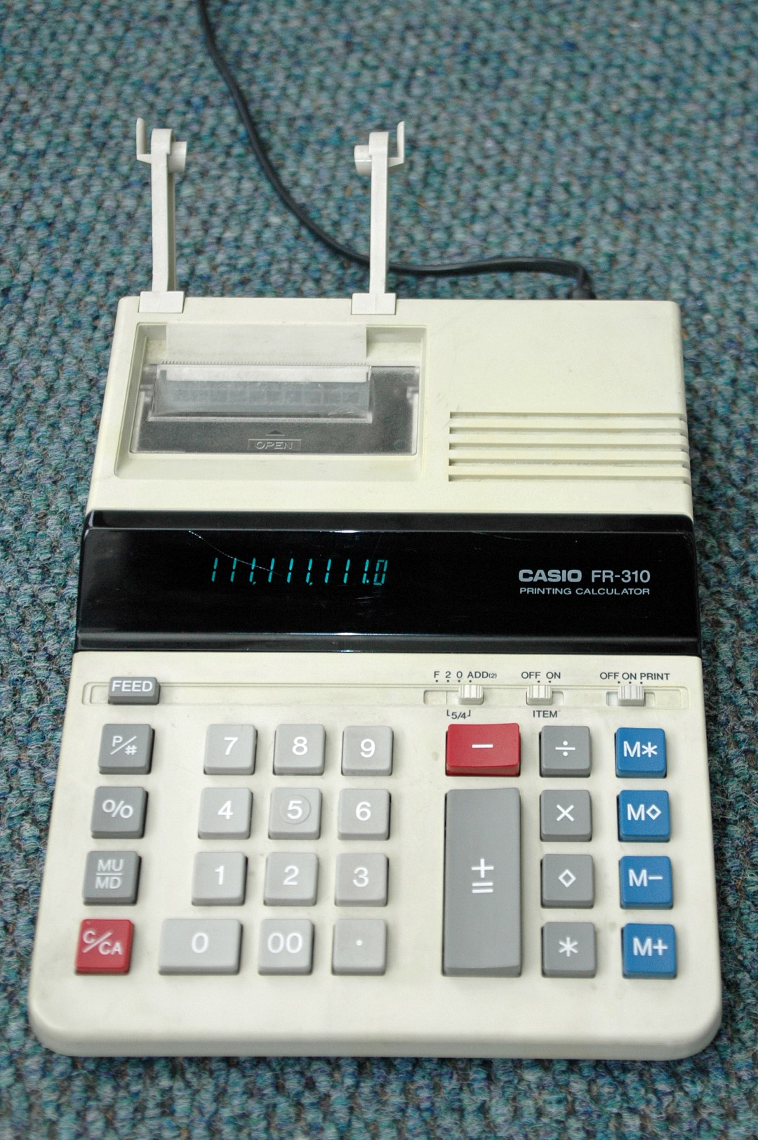 CASIO FR-310 printing calculator