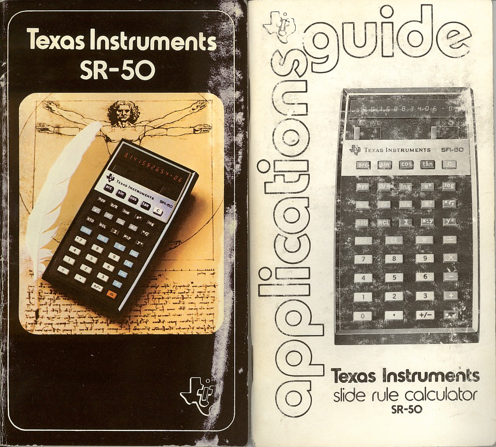 Texas Instruments SR50 computer documentatie