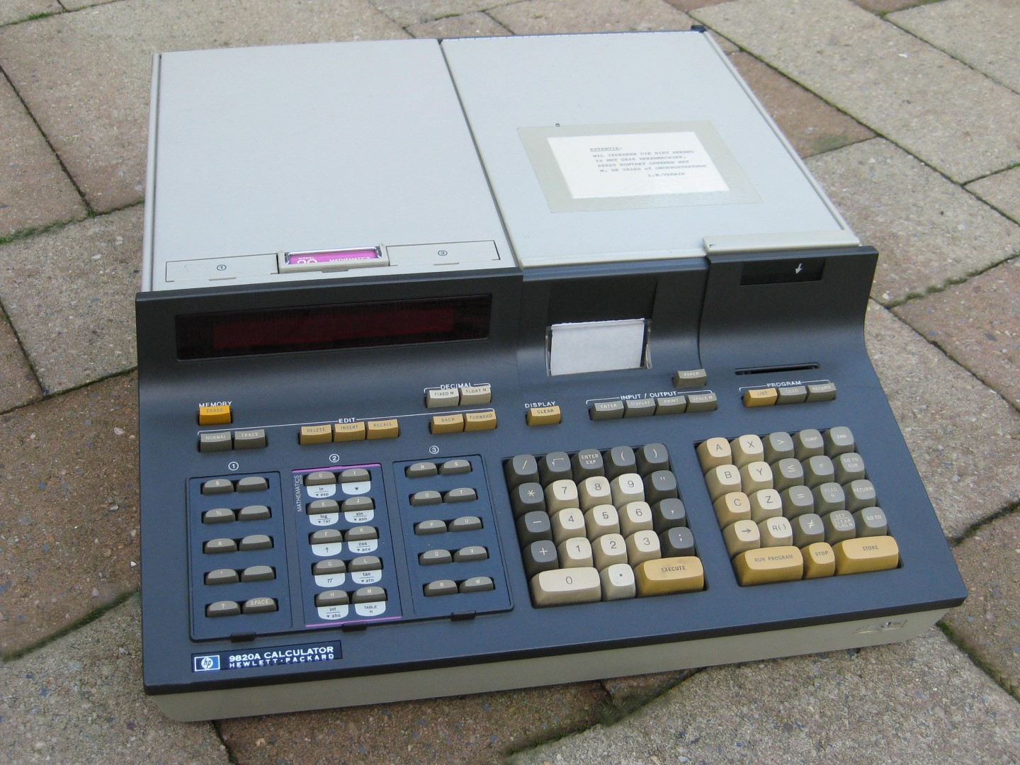 HP9820A calculator