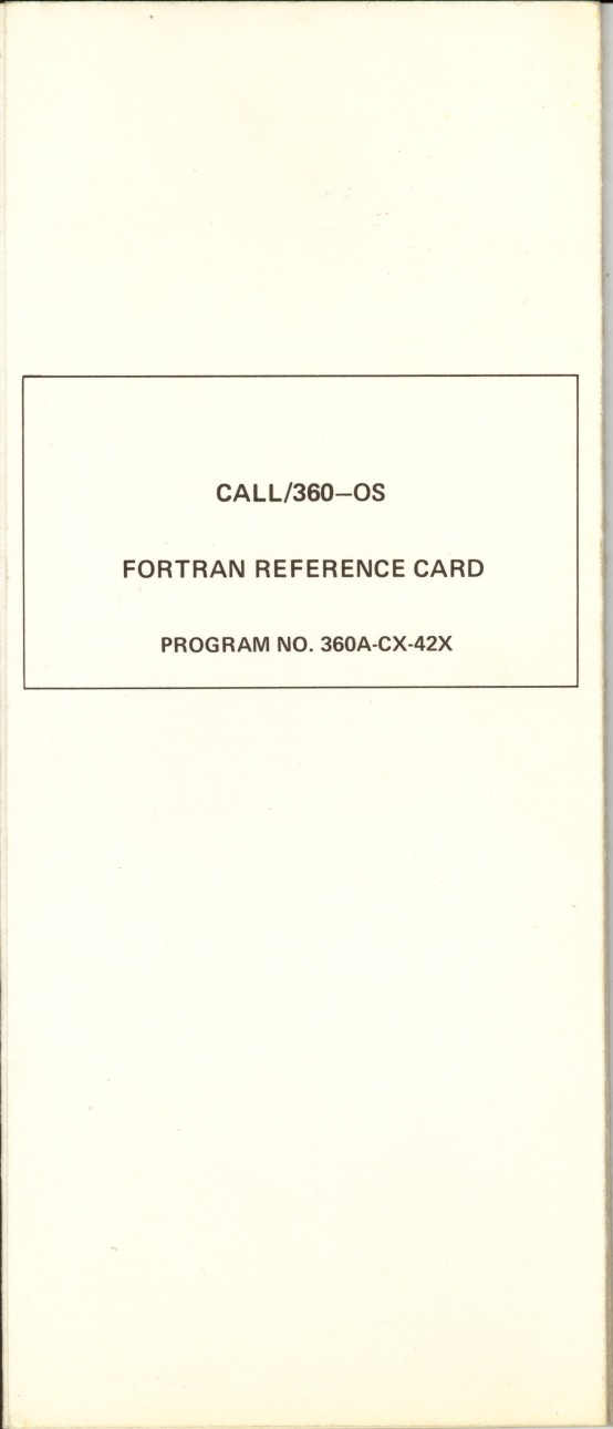ibm-call 360 OS Fortran